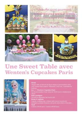 Sweet table, buffet gourmands