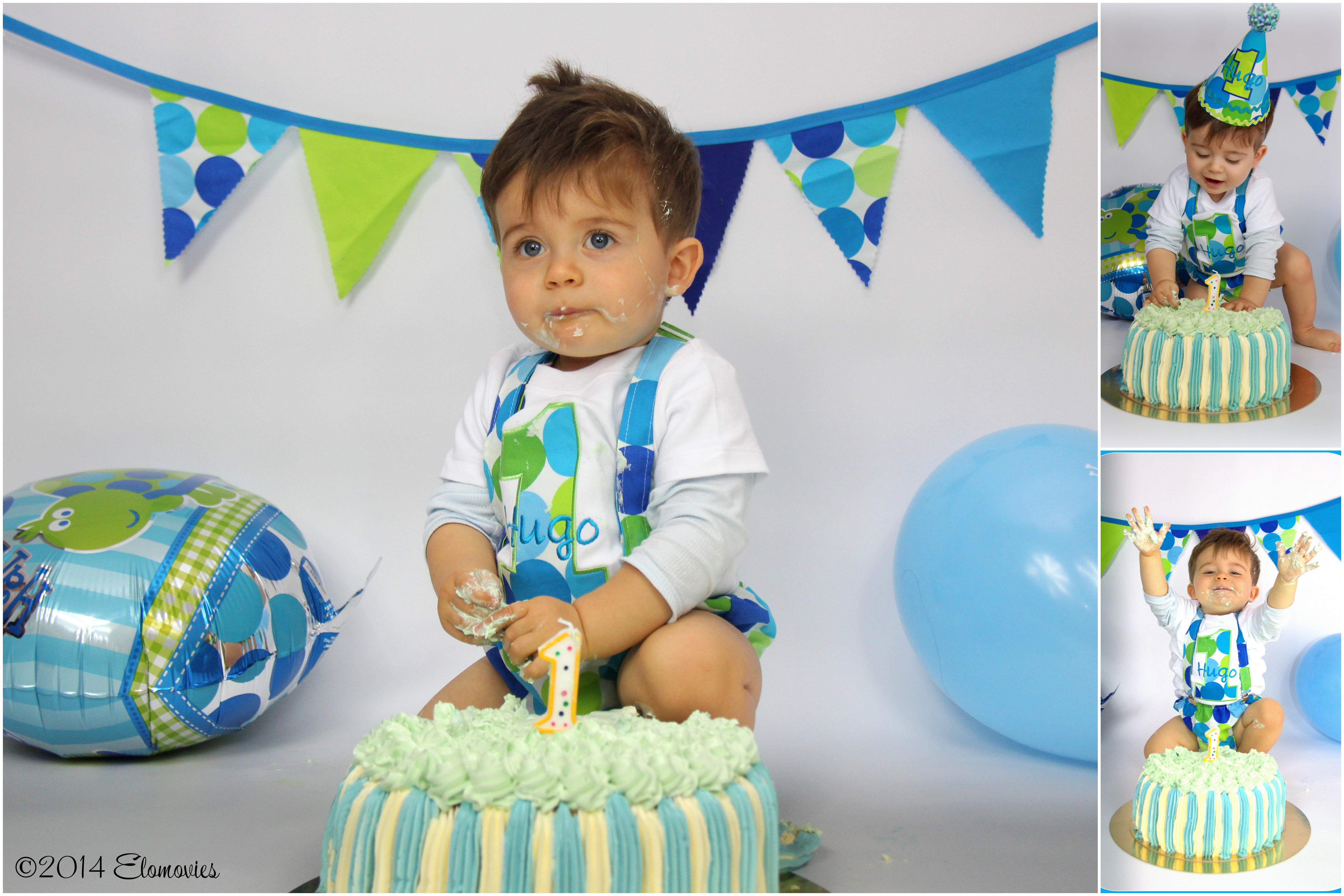 Smash cake wenten ev nementiel r union - Decoration anniversaire bebe garcon 1 an ...